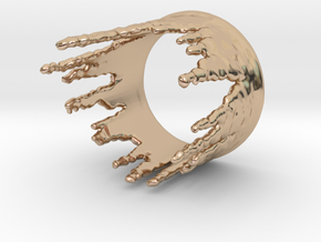 Ring Melting No.3 in 14k Rose Gold Plated Brass