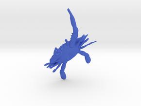 Crab Pendant in Blue Processed Versatile Plastic