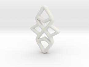 Random Pendant in White Natural Versatile Plastic