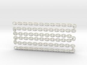 "scale logChain 24"" in White Natural Versatile Plastic"