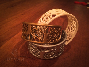 Tree of Life Bracelet 50mm in White Natural Versatile Plastic