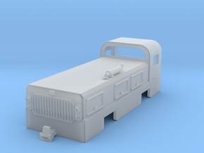 Low profile tunnelling and mining diesel locomotiv in Smooth Fine Detail Plastic