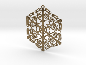 Snowflake Crystal in Polished Bronze