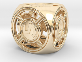 UFO D6 in 14k Gold Plated Brass