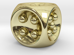Gravity D6 in 18k Gold Plated Brass