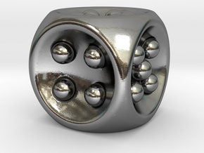 Gravity D6 in Polished Silver
