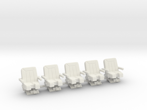 Seats for jet 1:72 5x  in White Natural Versatile Plastic