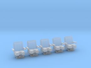 Seats for jet 1:72 5x  in Smooth Fine Detail Plastic