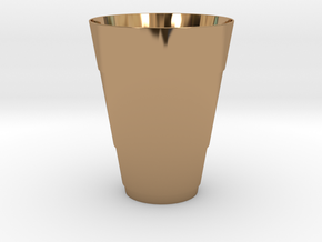 Gold Beer Pong Cup in Polished Brass