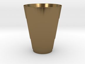 Gold Beer Pong Cup in Polished Bronze