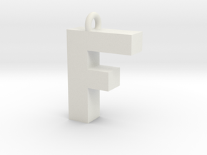 Alphabet (F) in White Natural Versatile Plastic
