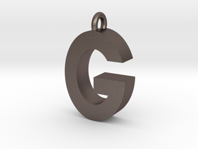 Alphabet (G) in Polished Bronzed Silver Steel