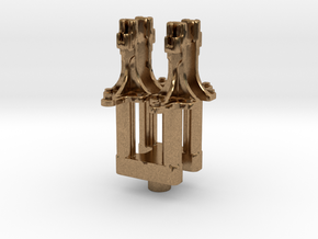 No. 23 Signal Bracket 4-up .625 Plus 1% in Natural Brass