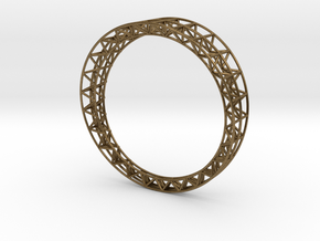 Intricate Framework Bracelet in Natural Bronze