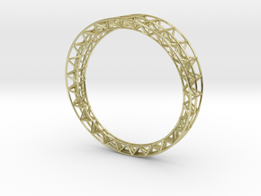 Intricate Framework Bracelet in 18k Gold Plated Brass