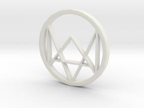 Watchdogs Logo in White Natural Versatile Plastic