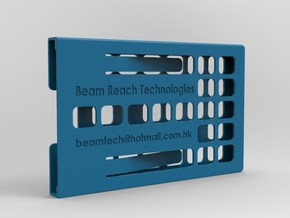 Business Card Case - Manually Customizable in Blue Strong & Flexible Polished