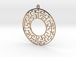 Maze in Polished Brass