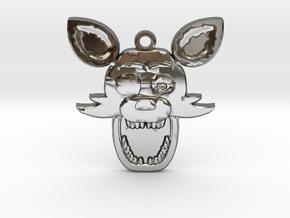 Five Nights at Freddy's Foxy Pendant in Premium Silver