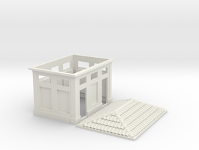 HO Scale Gabinetti - Italian Bathrooms 1:87 in White Strong & Flexible