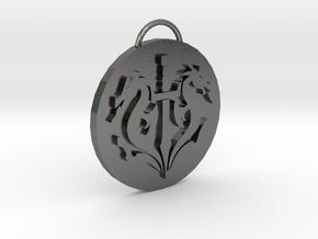 Mortal Kombat Black Dragon Pendant in Polished Nickel Steel