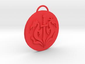 Mortal Kombat Black Dragon Pendant in Red Processed Versatile Plastic