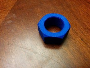 Nut Job 14mmx1 Negative Airsoft Muzzle Tip in Blue Processed Versatile Plastic