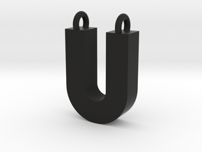 Alphabet (U) in Polished Bronzed Silver Steel