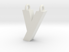 Alphabet (Y) in White Natural Versatile Plastic