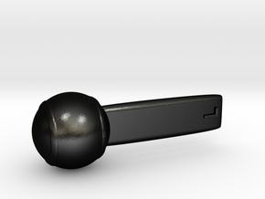 Lollipop in Matte Black Steel