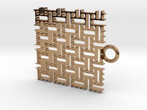 Stitch Pattern in Polished Brass