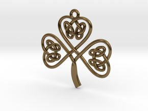 Shamrock Knot Pendant in Polished Bronze