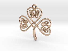 Shamrock Knot Pendant in 14k Rose Gold