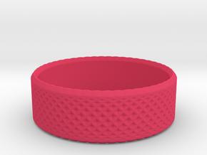 0203 Lissajous Figure Ring (Size2.5, 13.6mm) #010 in Pink Processed Versatile Plastic