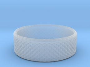 0203 Lissajous Figure Ring (Size2.5, 13.6mm) #010 in Smoothest Fine Detail Plastic