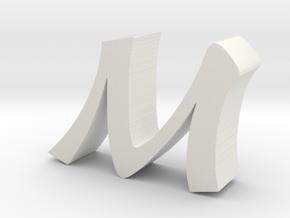M Baoli Font in White Strong & Flexible