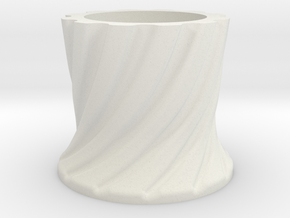 RadarTower - Plinth2 in White Natural Versatile Plastic