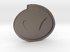 Fog Badge - Johto Pokemon Bagdes in Polished Bronzed Silver Steel