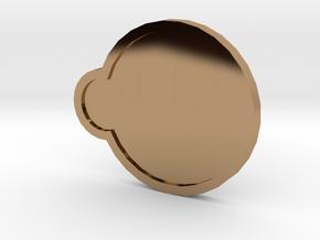 Storm Badge - Johto Pokemon Bagdes in Polished Brass