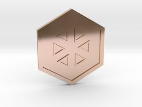 Glacier Badge - Johto Pokemon Bagdes in 14k Rose Gold Plated Brass
