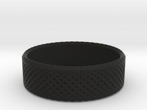 0205 Lissajous Figure Ring (Size3.5, 14.4mm) #012 in Black Natural Versatile Plastic