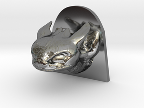 Dragon Head in Fine Detail Polished Silver