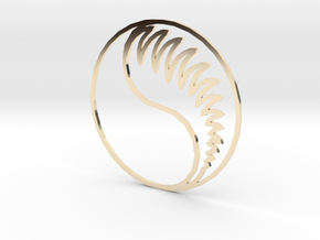 Aes Sedai Insignia - Outline in 14K Yellow Gold