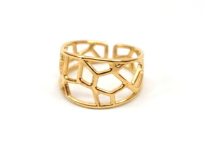 Cell Ring in 18K Gold Plated