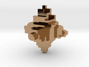 Metal Pixelated Desk Toy in Polished Brass