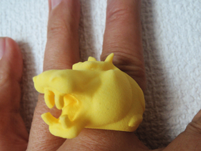 Hippopotamus ring in Yellow Strong & Flexible Polished