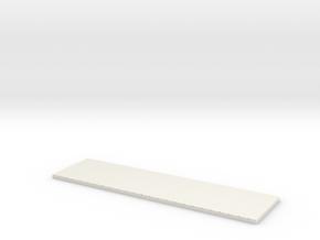 HOn3 HOn30 1871 14' box car Roof116b in White Natural Versatile Plastic
