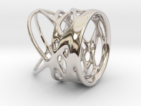 Ring of Rings No.4 in Rhodium Plated