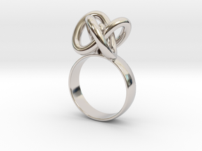 Infinity ring in Rhodium Plated Brass