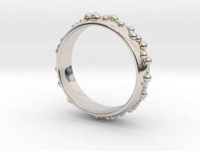 thousand fields Ring in Rhodium Plated Brass